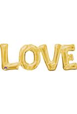 Amscan folieballon Air-filled goud Love