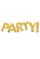 Amscan folieballon Air-filled goud Party!