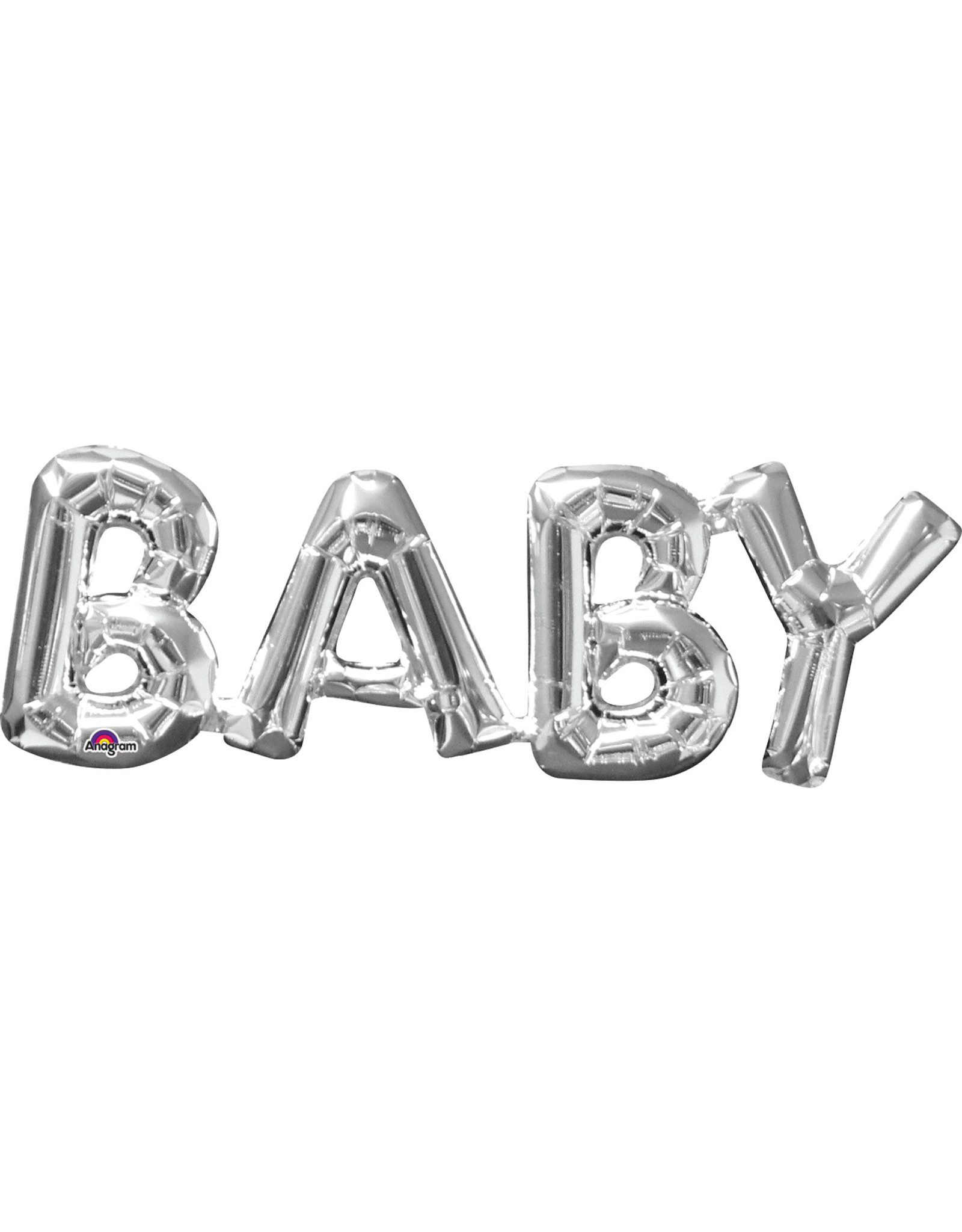 Amscan folieballon Air-filled zilver Baby