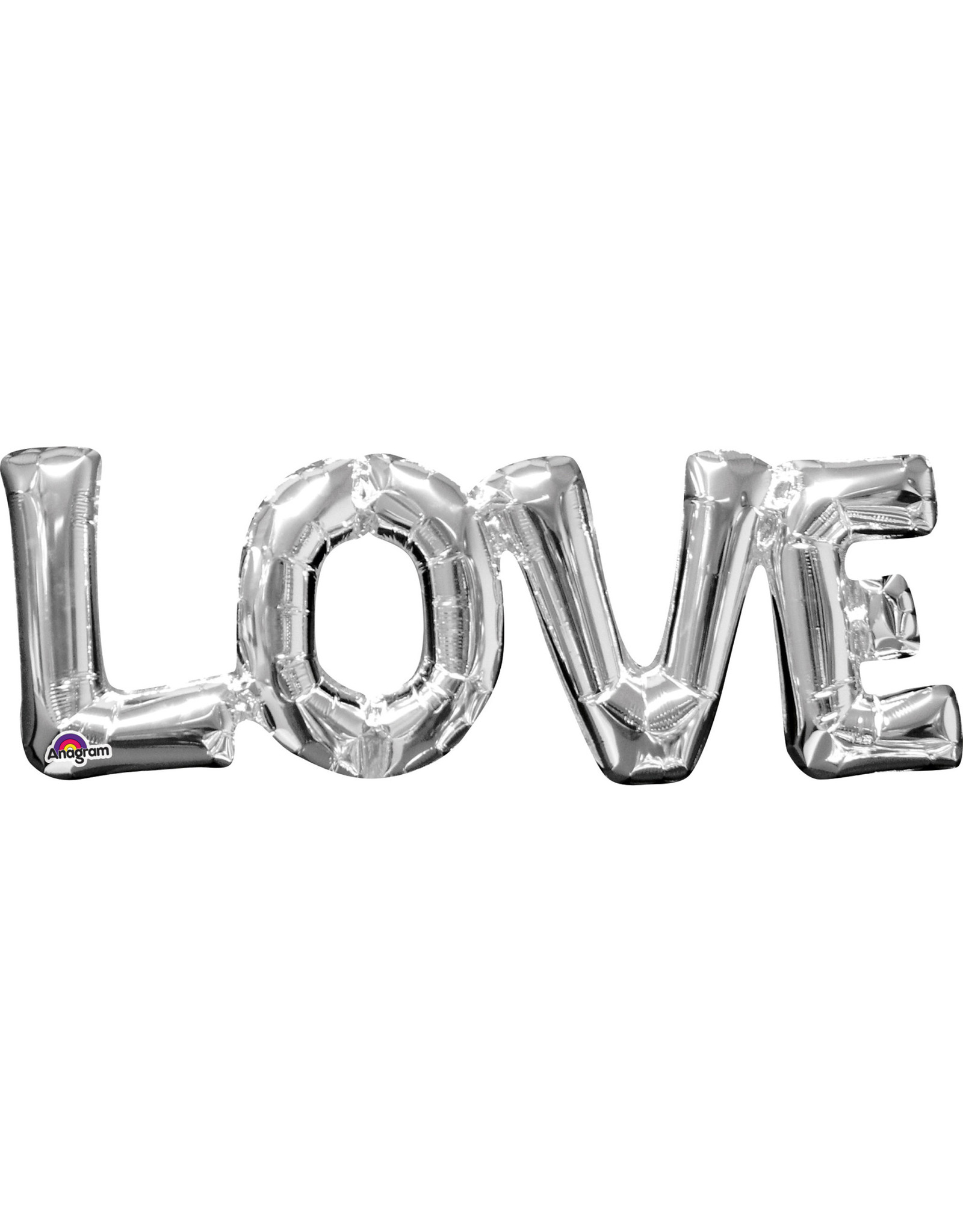 Amscan folieballon Air-filled zilver LOVE