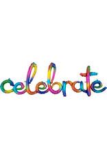 Amscan folieballon airfilled celebrate regenboogkleuren