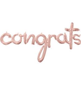 Amscan folieballon airfilled congrats rose goud