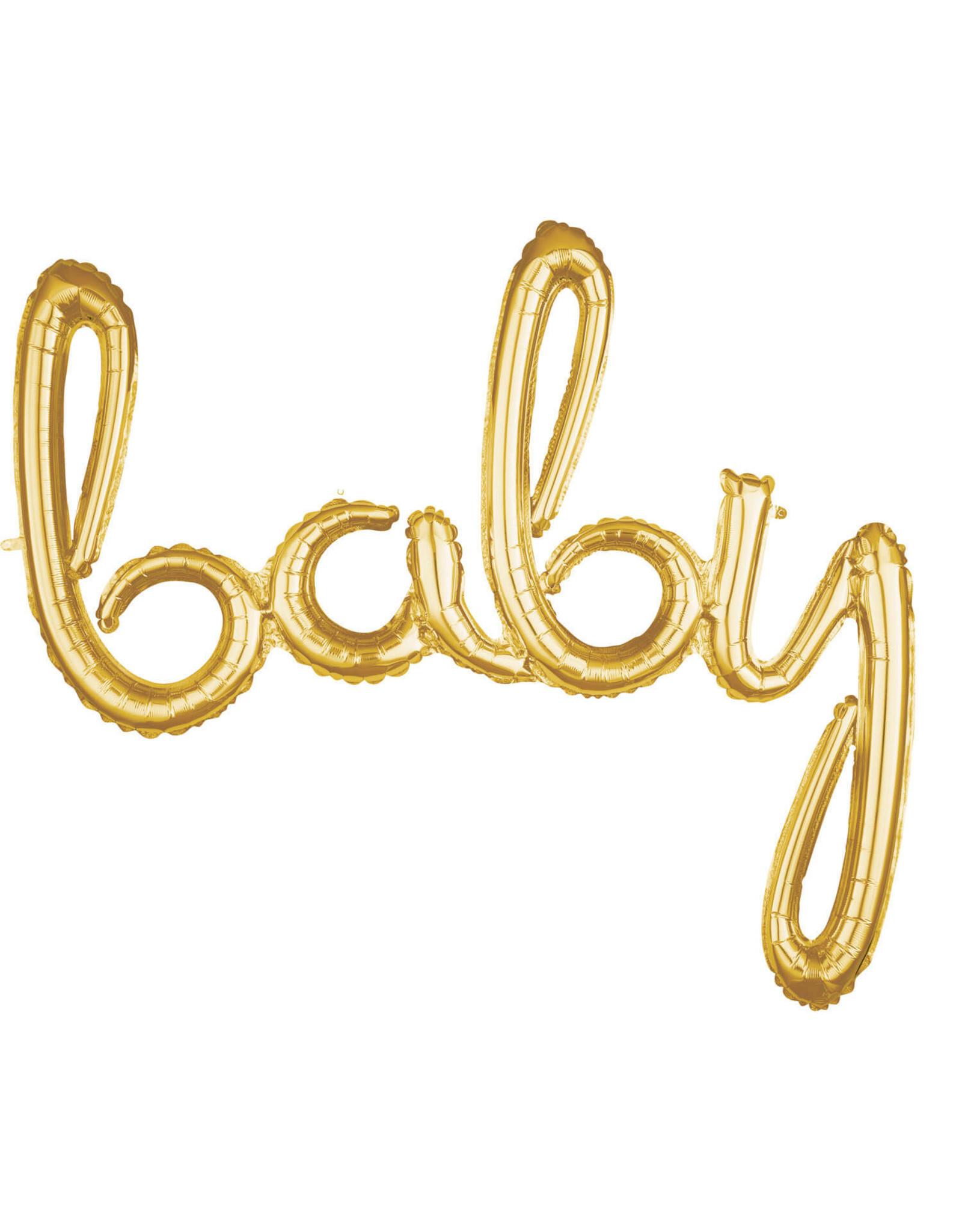 Amscan folieballon airfilled goud baby