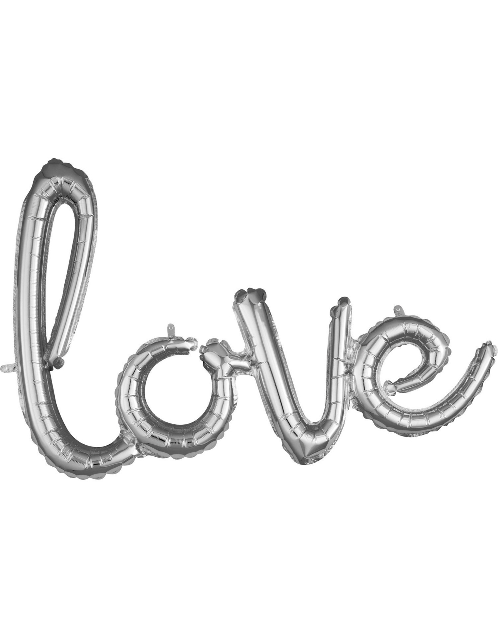 Amscan folieballon airfilled zilver love