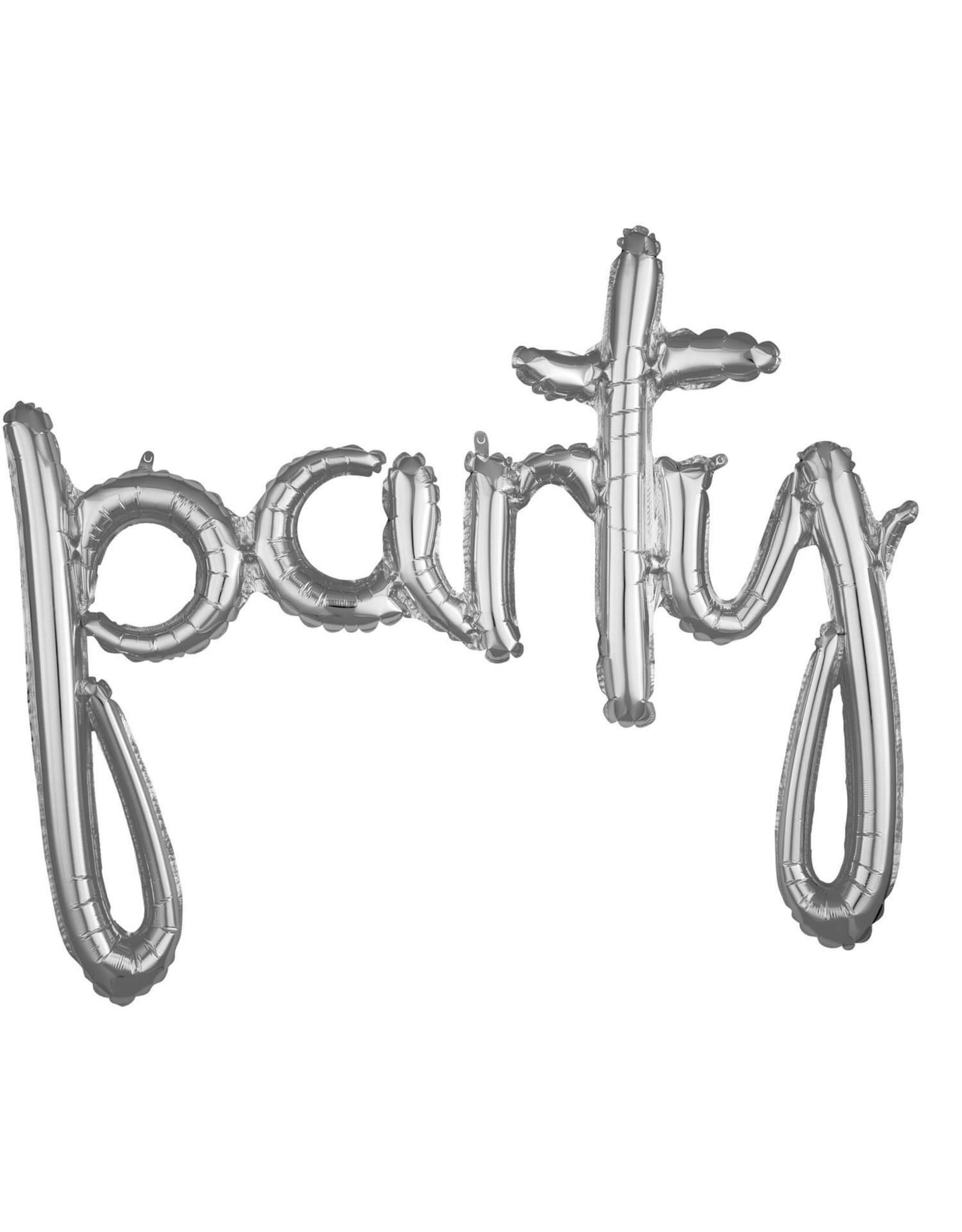 Amscan folieballon airfilled zilver party