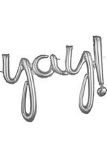 Amscan folieballon airfilled zilver yay