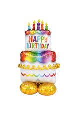 Amscan folieballon airloonz happy birthday taart