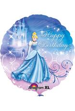 Amscan folieballon Assepoester happy birthday 43 cm