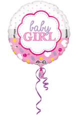 Amscan folieballon baby girl 43 cm