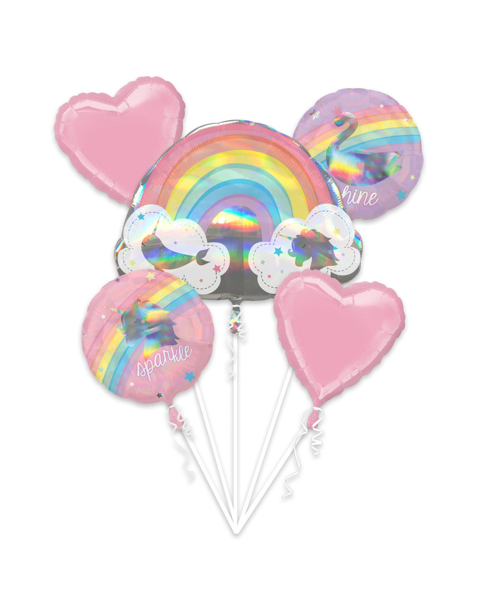 Amscan folieballonpakket magische regenboog 5-delig