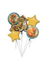Amscan folieballonpakket Lion king 5-delig