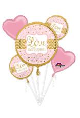 Amscan folieballonpakket sparkling wedding 5-delig