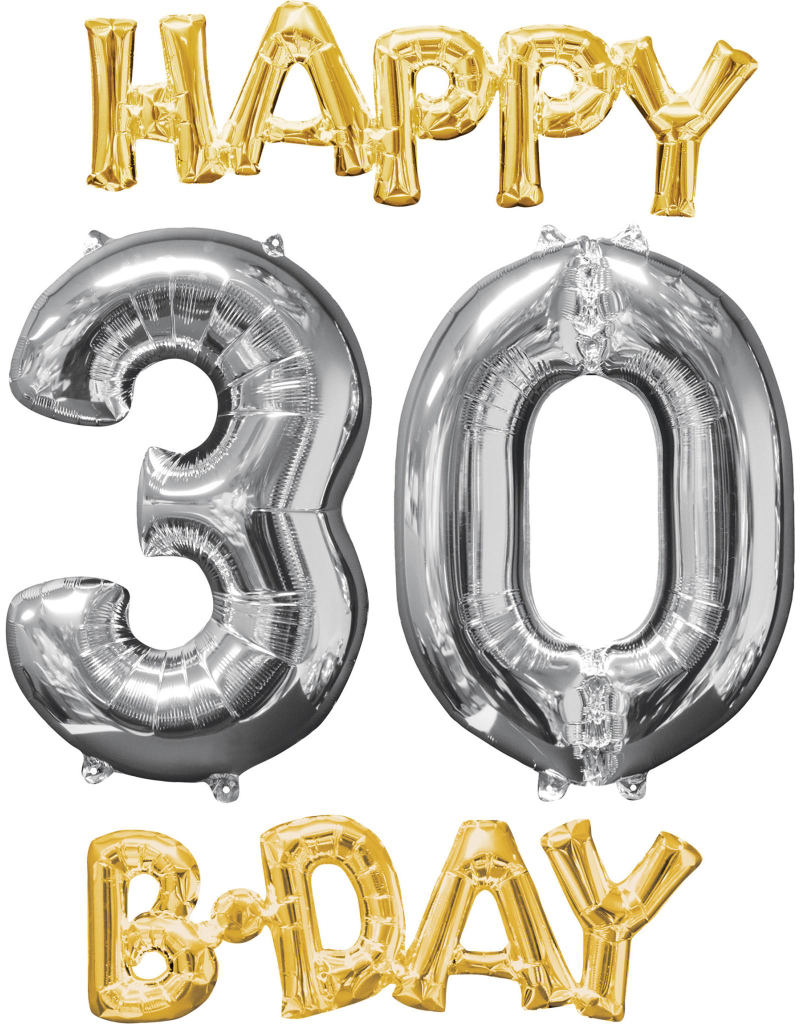 Amscan folieballonpakket Happy 30 B-day