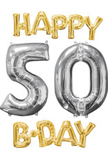 Amscan folieballonpakket Happy 50 B-day