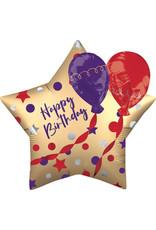 Amscan folieballon multi-shape happy birthday satin look