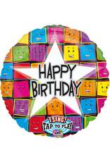 Amscan folieballon singing balloon happy birthday 71 cm