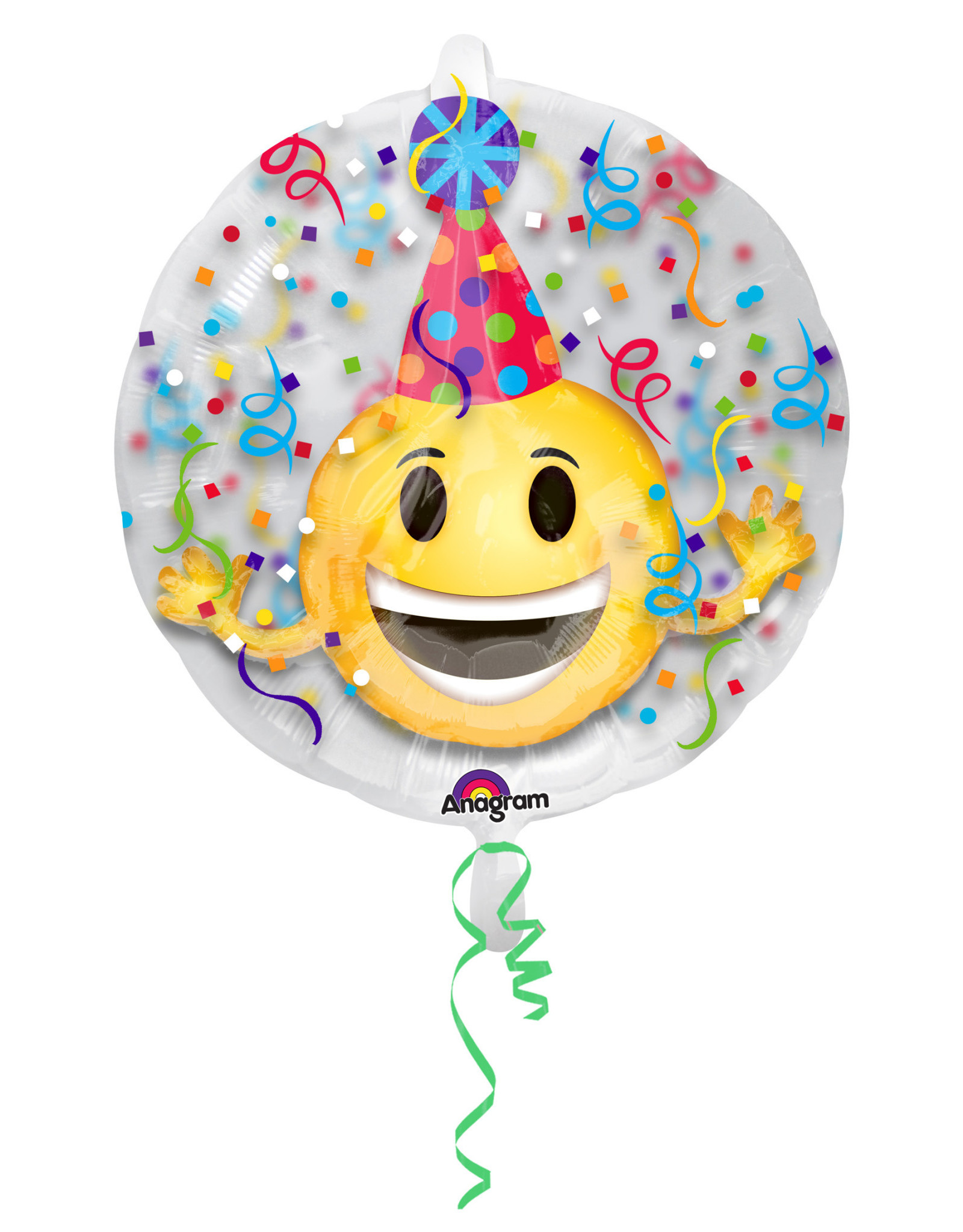 Amscan insiders folieballon emoticon party hat 60 cm