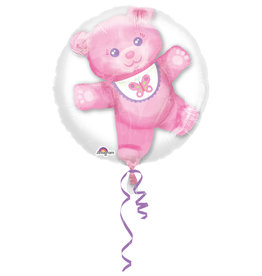 Folieballon it's a girl Double Bubble