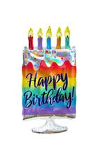 Amscan folieballon happy birthday holographic taart 38 x 76 cm