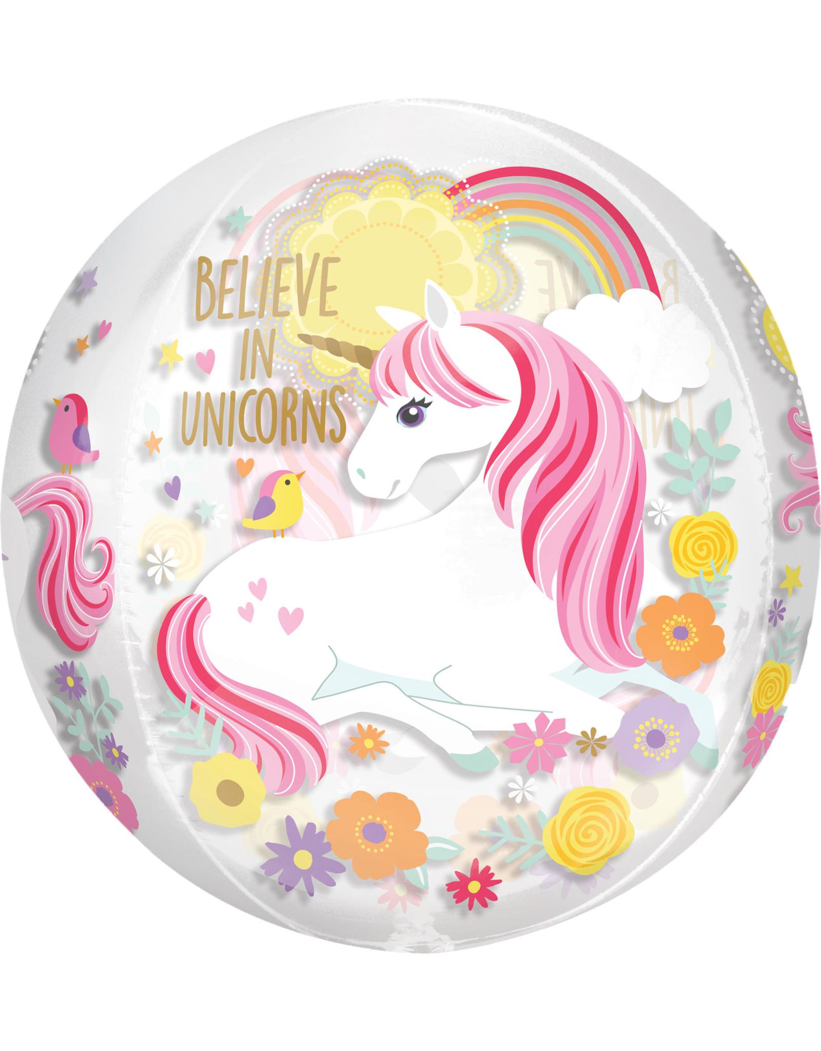 Amscan folieballon orbz unicorn 38 x 40 cm