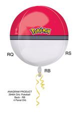 Amscan folieballon orbz pokemonball 38 x 40 cm