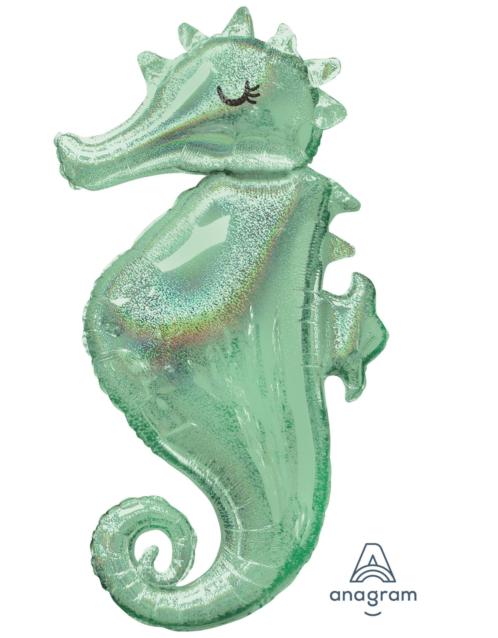 Amscan folieballon mermaid seahorse 50 x 96 cm