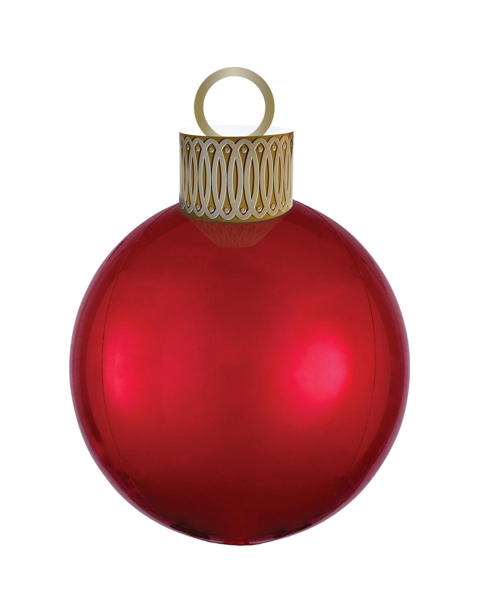 Amscan folieballon orbz kerstbal rood