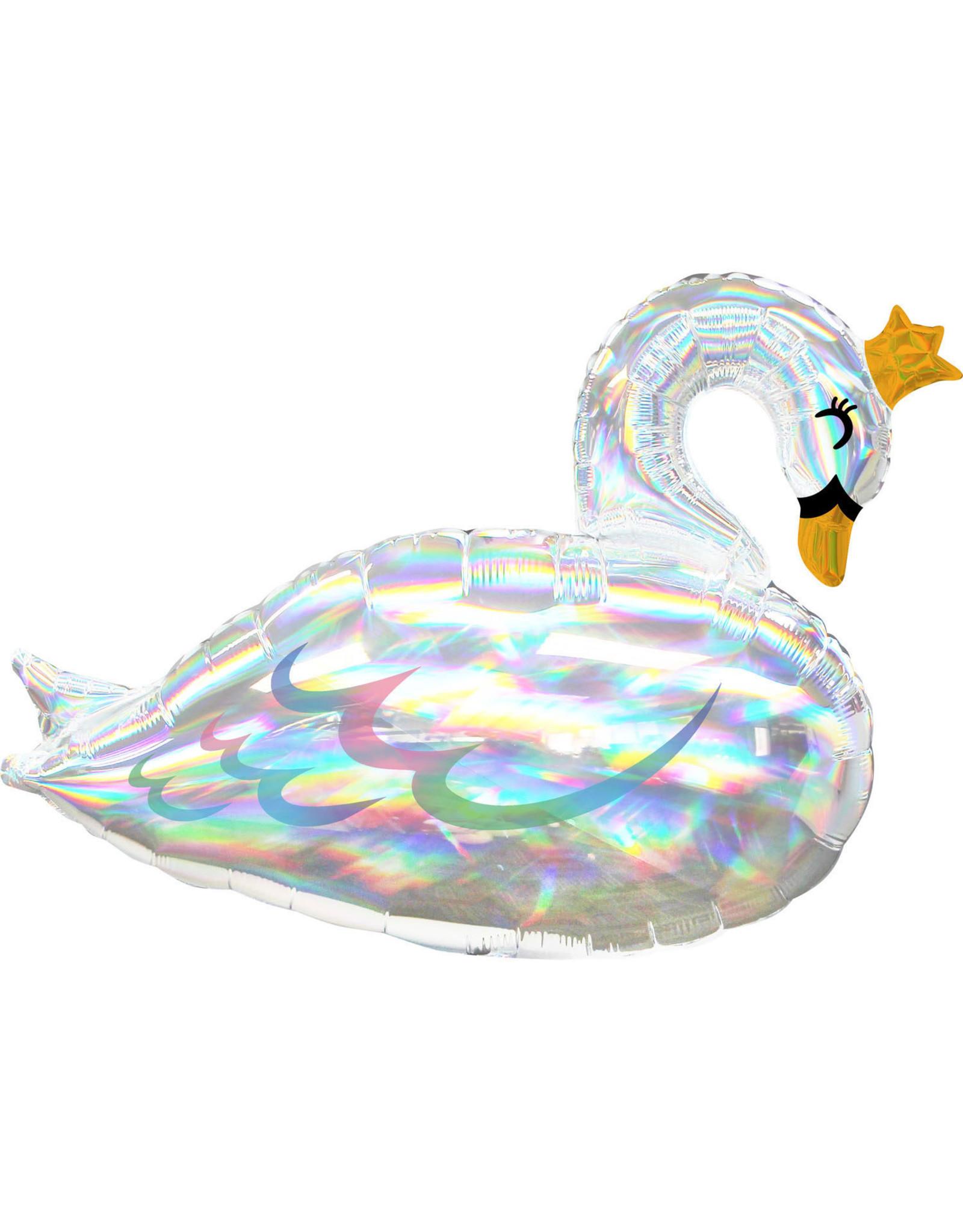 Amscan folieballon supershape lovely swan shimmering
