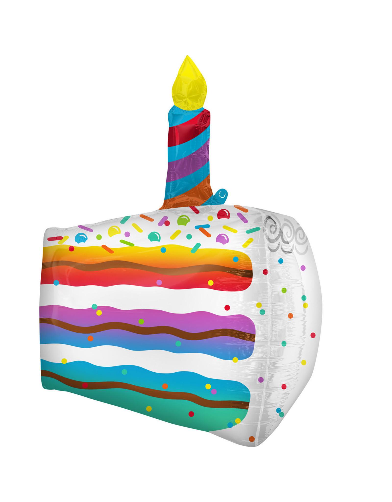 Amscan folieballon supershape stuk taart shimmering