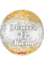 Amscan folieballon orbz happily ever after 38 x 40 cm