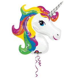 Amscan folieballon unicorn supershape 83 x 73 cm