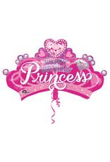Amscan folieballon supershape princess crown 81 x 48 cm