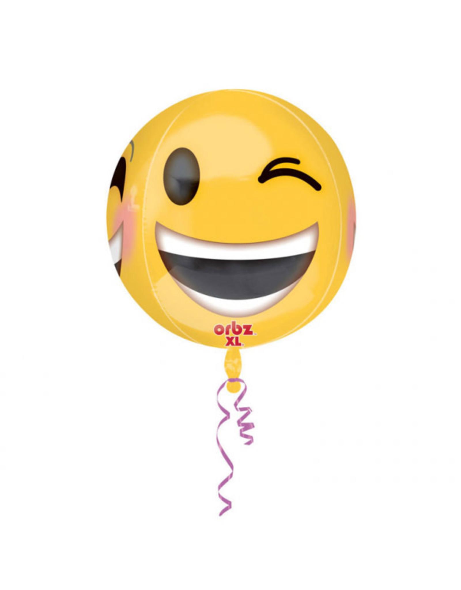 Amscan folieballon orbz Emoticon 38 x 40 cm
