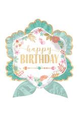 Amscan folieballon supershape boho happy birthday 63 x 68 cm