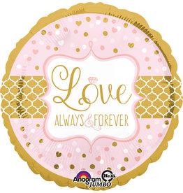 Amscan folieballon love always&forever supershape 71 cm