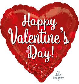 Amscan folieballon supershape hart Happy Valentine's Day 71 cm