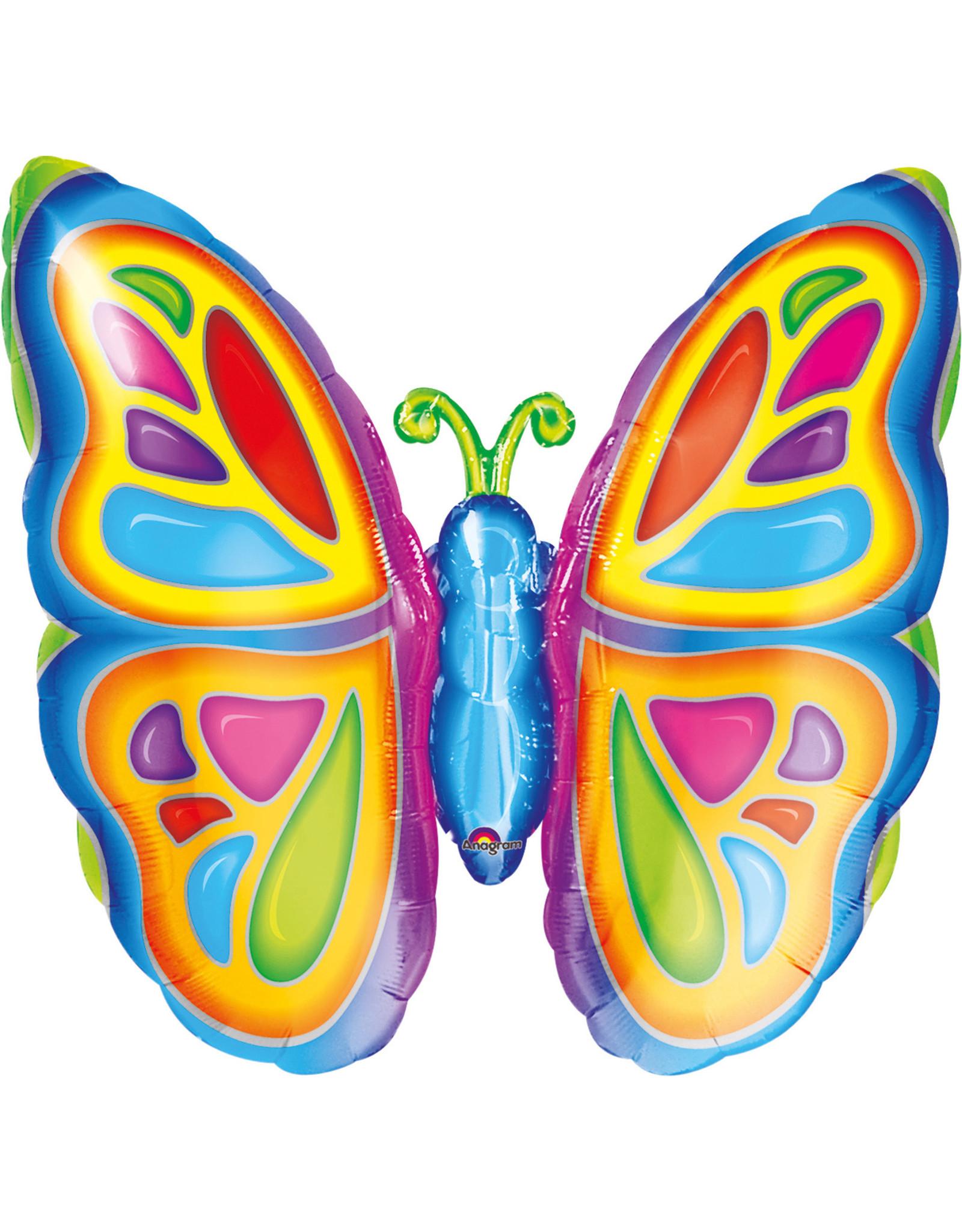 Amscan folieballon supershape vlinder 63 x 63 cm