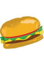 Amscan folieballon supershape broodje hamburger