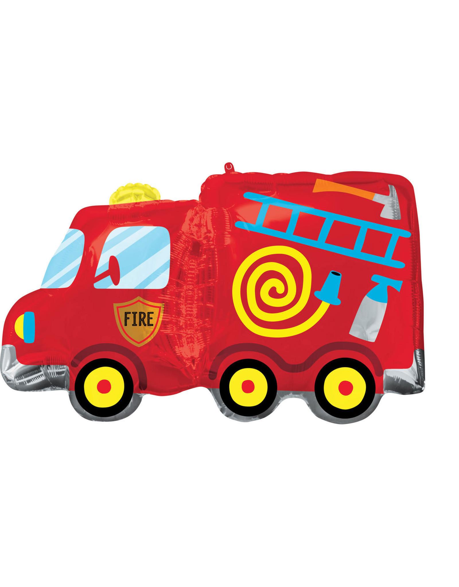 Amscan folieballon supershape brandweerauto