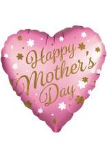 Amscan folieballon supershape happy mother's day roze hart