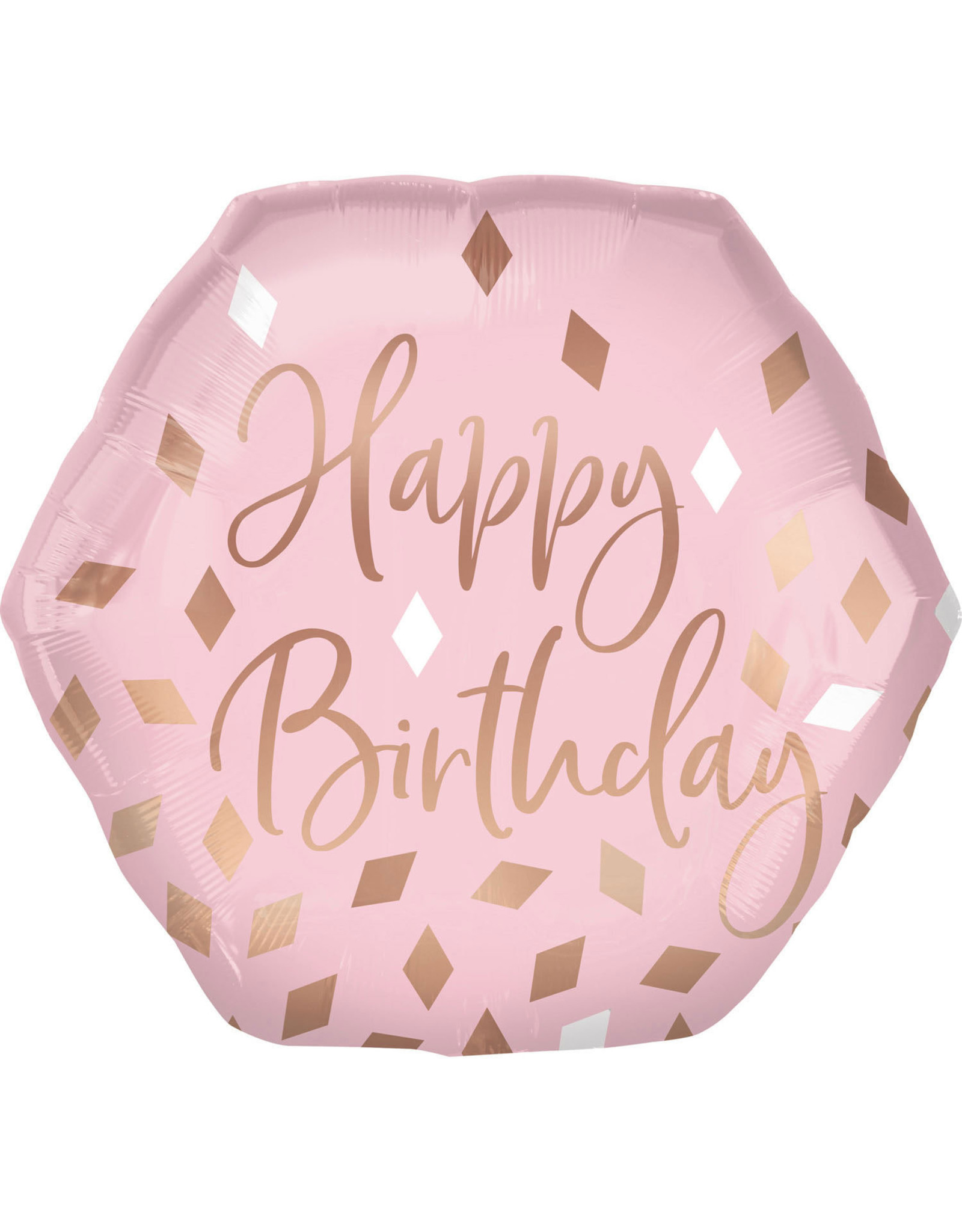 Amscan folieballon supershape happy birthday rose gold 58 x 55 cm