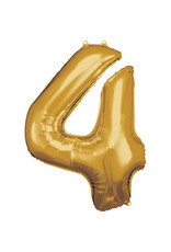 Amscan folieballon goud cijfer 4 86 cm