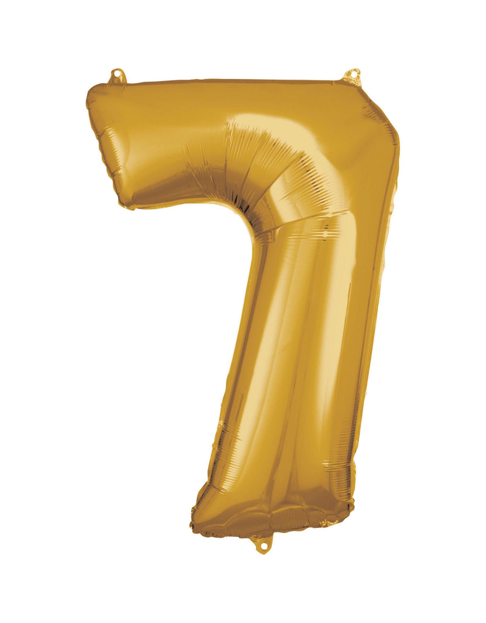 Amscan folieballon goud cijfer 7 86 cm