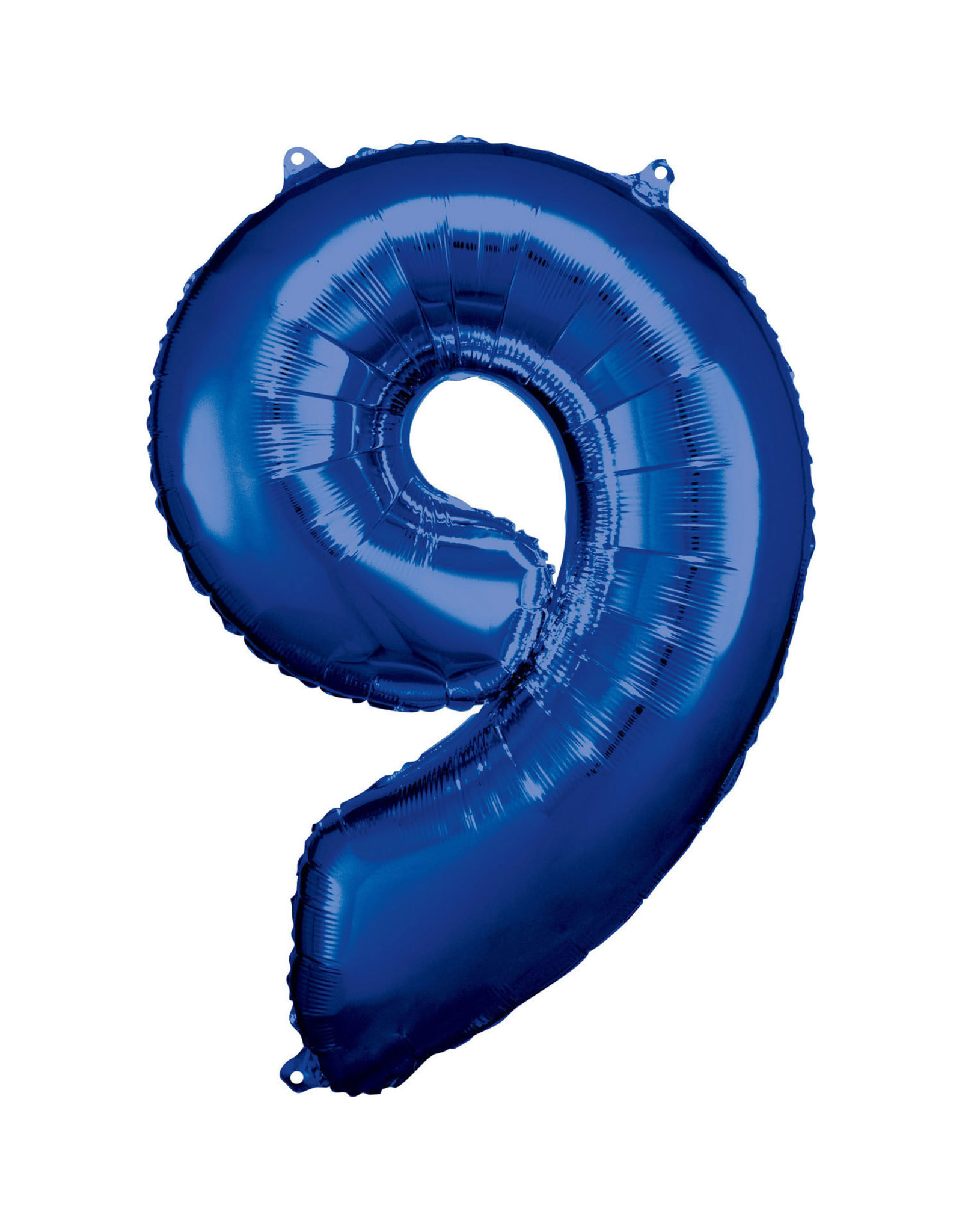 Amscan folieballon blauw cijfer 9 86 cm