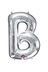 Amscan folieballon zilver letter B 86 cm