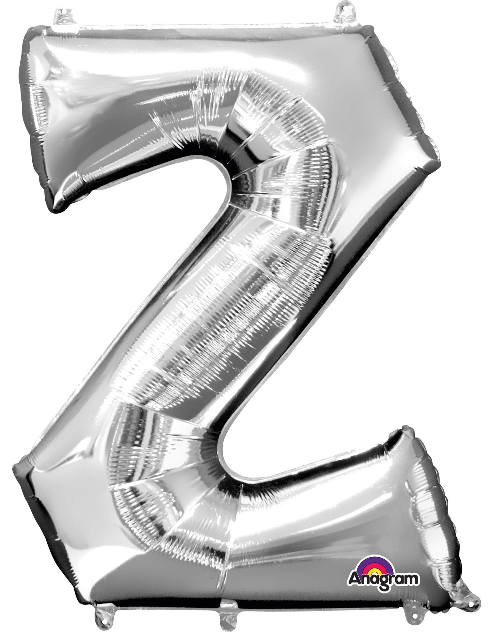 Amscan folieballon zilver letter Z 86 cm