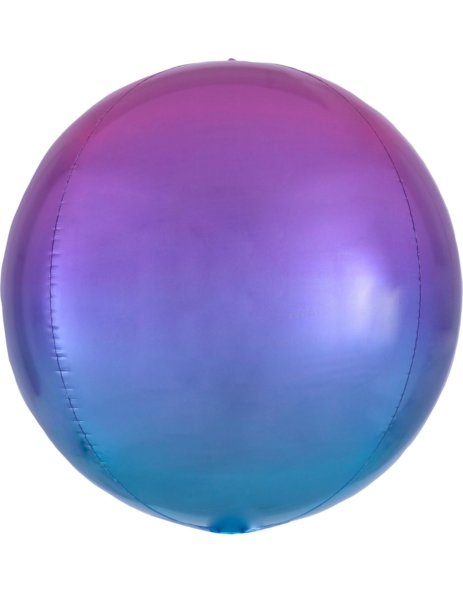 Amscan folieballon orbz roze/blauw 38 x 40 cm