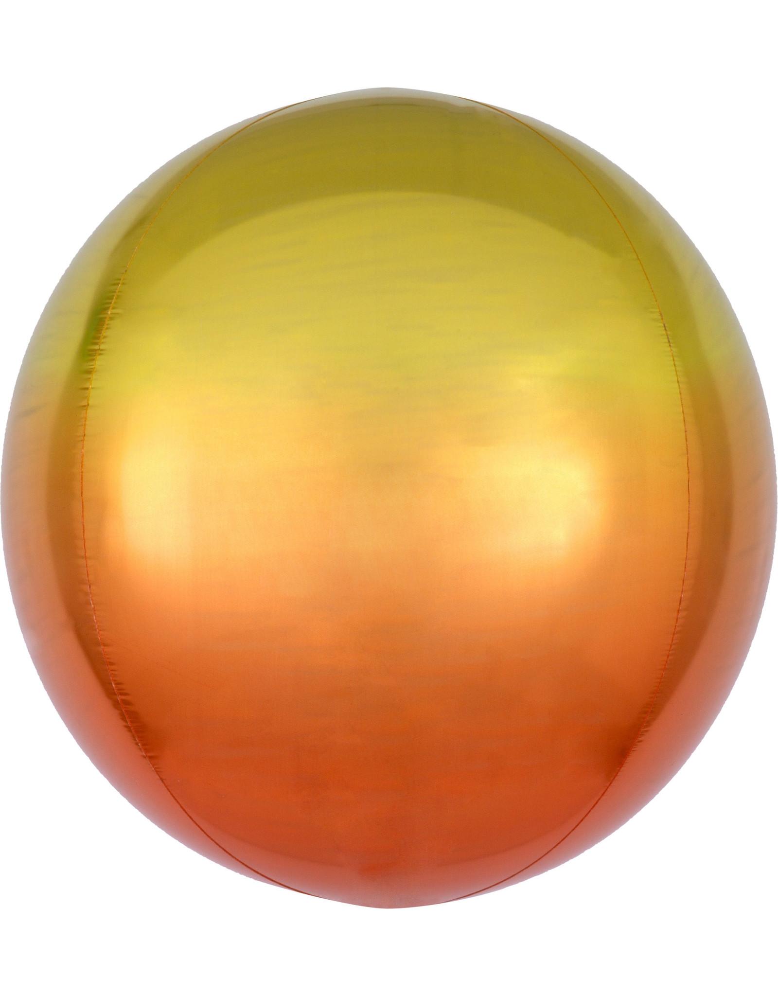 Amscan folieballon orbz geel oranje 38 x 40 cm