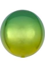 Amscan folieballon orbz geel groen 38 x 38 cm