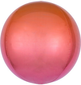 Amscan folieballon orbz oranje rood 38 x 38 cm
